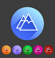 mountain icon flat web sign symbol logo label set vector image