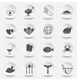 set of icons for theme eating vector image
