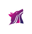 wolf head business logo vector image