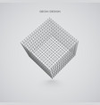 3d wireframe cube technology vector image vector image