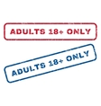 Adults 18 Plus Only Rubber Stamps vector image vector image