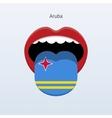 Aruba language Abstract human tongue vector image vector image