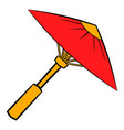 asian red parasol or umbrella icon cartoon vector image vector image