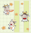 background with cows seamless pattern vector image