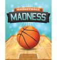 basketball flyer vector image vector image