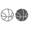 basketball line and glyph icon sport and vector image vector image