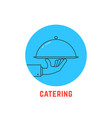blue round catering logo vector image vector image