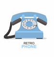 blue vintage telephone isolated on white vector image