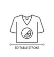 branded t shirt linear icon vector image vector image