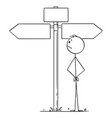 cartoon man or businessman standing vector image vector image