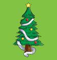 christmas tree celebration vector image vector image
