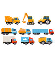 construction and cargo transport set heavy vector image vector image