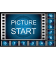 countdown film frames vector image vector image