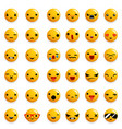 cute emoticon smile emoji icons set isolated 3d vector image vector image