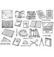 education and knowledge books and stationery vector image