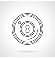 Eight ball flat line icon vector image vector image
