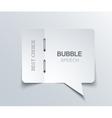 flat bubble speech background vector image vector image