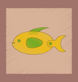 flat shading style icon kids fish vector image vector image