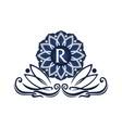 flower elegant icon initial r vector image vector image