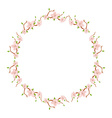 Flower round wreath vector image vector image