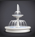 fountains realistic isolated on transparent vector image