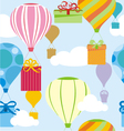 Gifts and balloons pattern vector image vector image