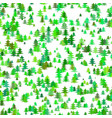 green random pine tree background - winter vector image vector image