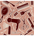 Hairdressing equipment seamless pattern background vector | Price: 3 Credits (USD $3)