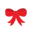 Hand drawn sketch of red festive bow vector image vector image