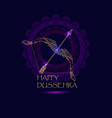 happy dussehra indian festival vector image vector image
