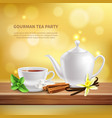 herbs and spices background vector image vector image
