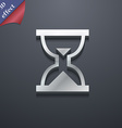 Hourglass Sand timer icon symbol 3D style Trendy vector image vector image