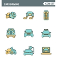 Icons line set premium quality of cars driving vector image vector image