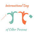 international day of older person old man and vector image