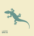 lizard flat monochrome icon with a shabeffect vector image vector image