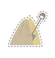 mining mineral sand pile shovel cut line vector image vector image