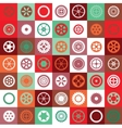 Mosaic gear vector image vector image
