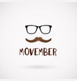 movember men health month mustache symbol vector image