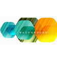 multicolored hexagons geometric abstract vector image vector image