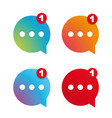 new message icon set vector image