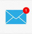 new message icon vector image vector image