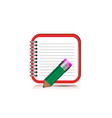 notebook icon for mobile application eps10 vector image