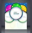 party poster layout business flyer magazine cover vector image vector image