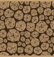 pattern of sawn wood vector image