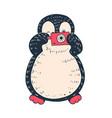penguin vector image vector image