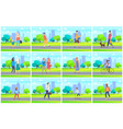 people in park leisure man and woman vector image vector image