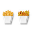potatoes french fries and potato wedges in paper vector image vector image