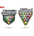 Premium symbols of Billiard Tag vector image vector image