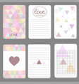 printable cute design cards triangle and geometriz vector image vector image