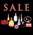 sale cosmetics vector image